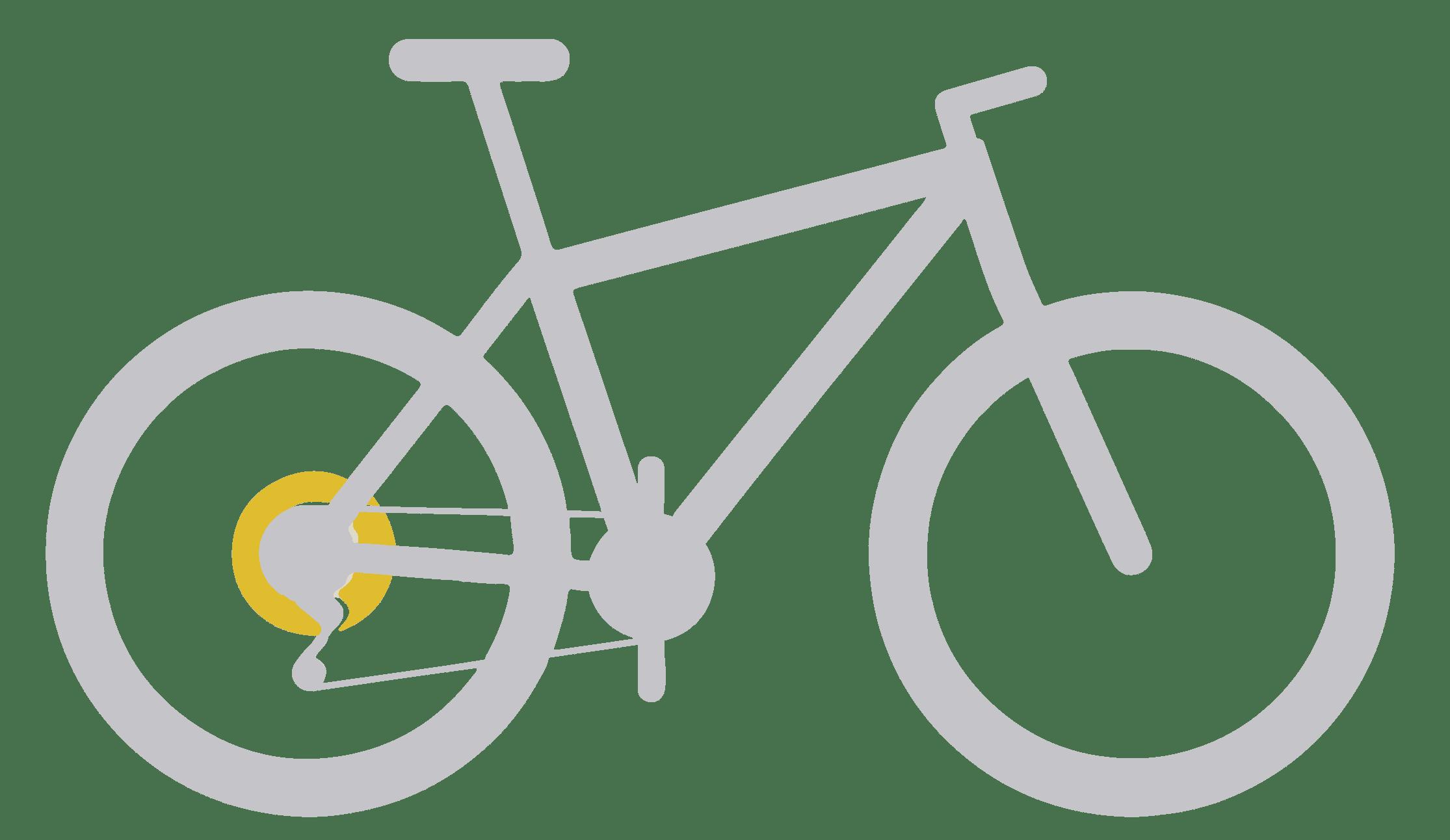 vélo avec kit vélo électrique roue arriere